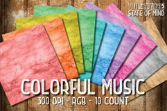 Colorful Music Digital Papers Product Image 2