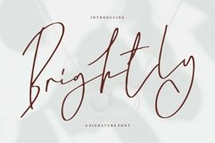 Web Font Brightly - A Signature Font Product Image 1