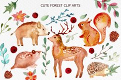 Winter Forest Watercolor Graphic Set Product Image 2