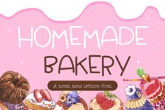 Homemade Bakery Handwritten- cute kid font Kawaii style! Product Image 1