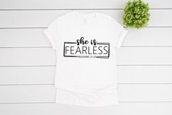 She Is Fearless SVG files for Cricut, She Is Strong SVG Product Image 2