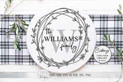 Monogram Wreath SVG | Farmhouse Sign SVG | dxf and more Product Image 4