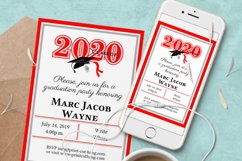Invitation Template editable text - RED - Grade Party 2021 Product Image 6