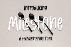 Web Font Milestone - Handlettring Font Product Image 1