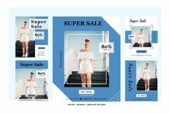 super sale media post template Product Image 1
