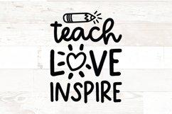 Teach Love Inspire - teacher svg Product Image 1