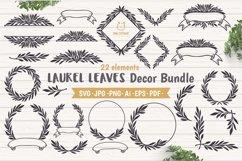 Laurel Leaves SVG Bundle, Floral Decor Bundle, Wedding Decor Product Image 1