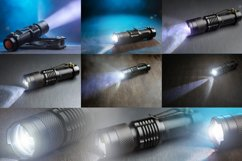 Tactical waterproof flashlight. Product Image 1