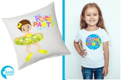 Pool party Mega clipart, graphics pack AMB-903B Product Image 3