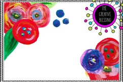 Acrylic / Watercolor Floral Clipart Product Image 1