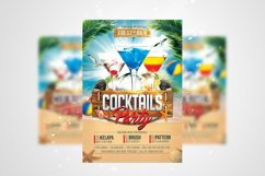 Cocktails Party Flyer PSD Template Product Image 1