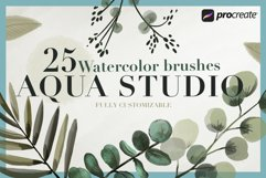 Aqua Studio Watercolor brushes Product Image 1
