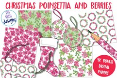 Christmas Poinsettia and Berries Product Image 2