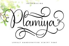 Plamiya | Handcrafted Script Font Product Image 1
