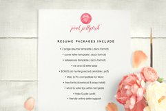 creative resume template word / floral feminine Product Image 5