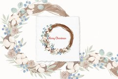 Christmas Watercolor Clipart, Christmas Wreath Clipart, PNG Product Image 3