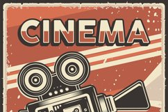 Retro Cinema Movie TV Show Poster Product Image 2