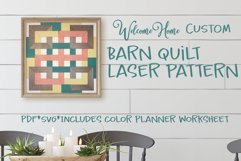 Modern Farmhouse Barn Quilt SVG for Laser Cut file Product Image 1