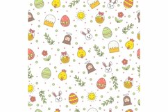 Happy Easter seamless pattern Product Image 1