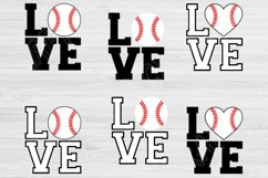Love Baseball Svg Designs, Baseball Love Svg Files Cricut Product Image 3