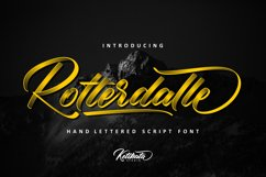 Rotterdalle Hand Lettered Script Product Image 1