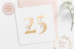 Floral Alphabet & Number Clipart Set #1 Product Image 5