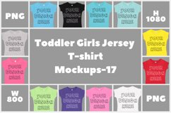 Toddler Gilrs Flat Jersey T Shirt Mockups - 17 Product Image 1