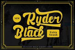 Black Ryder - Bold Script Font Product Image 1