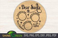 Santa Tray SVG Cut File, Dear Santa Tray Round Product Image 1