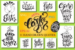 Easter quotes. Spring lettering set Product Image 1
