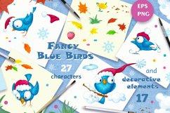 Fancy Blue Birds. Big set. Characters. Product Image 4