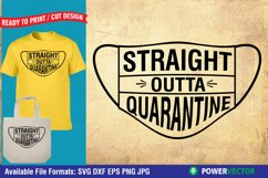 Funny Quarantine Sayings SVG DXF EPS PNG Design Product Image 3
