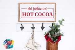 Old Fashioned Hot Cocoa - A Christmas or Winter SVG Cut Product Image 1