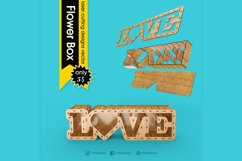 LOVE BOX - laser cut file Product Image 1