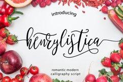 Henrylistica Script Product Image 1