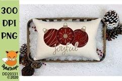 Joyful Christmas Ornament Bauble Sublimation Product Image 1