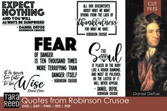 Quotes from Robinson Crusoe - SVG and Cut Files for Crafters Product Image 1