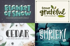 Holiday Font Pack Product Image 2