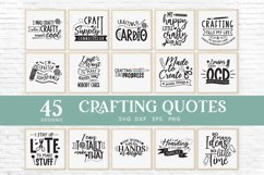 45 Crafting Quotes svg Bundle dxf eps png - craft room sign Product Image 3