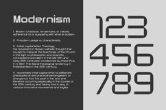Modernhead Typeface | Font Product Image 3