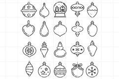 Christmas balls icons. Christmas toys vector files. Product Image 1