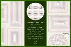 Stitched Nesting Shapes V2 Fancy Stitches   sketch foil SVG Product Image 3