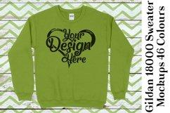 Gildan Sweatshirt Mockup 18000 Mock Up Black White Grey 949 Product Image 4
