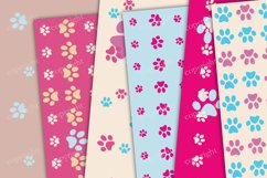 Pink and blue paws seamless pattern Product Image 2