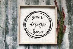 Cute Fall Farmhouse Craft Sign Mockup Product Image 1