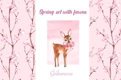 Spring set with fawns and patterns Product Image 2