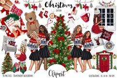 Fashion CHRISTMAS Girl Illustration Product Image 1