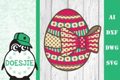 Layered Easter bundle 3d svg dxf Multi layer mandala easter Product Image 4