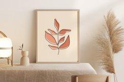 One Line Leave Wall Art, Leaf Wall Print, Minimalist Leave Product Image 3