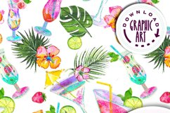Summer Cocktails Seamless Pattern Product Image 8